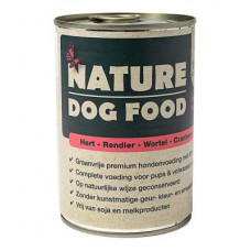 Nature Dog Food -Hert, Rendier, Wortel & Cranberry
